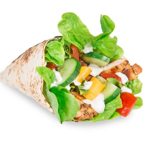 Salad filled wrap